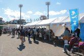 【さんぎょうまつり】 季節の野菜などの販売コーナーや 浅川町と親交がある岩手県野田町の海産物の販売、飲食コーナーが用意されています。