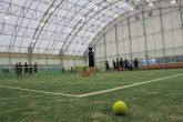 【屋内スポーツ運動場 季楽里】 この施設は、テニスコート2面、フットサルコート1面がとれます。 現在では、村内の児童生徒や一般の方、また村外の方からも幅広く活用されております。