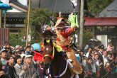 【流鏑馬】 八幡神社例大祭に行われる神事の流鏑馬とはまた違った雰囲気を、会場でぜひ感じてみてください。