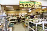 【三春の里かご市】 地元の農家さんが栽培した新鮮な野菜や、三春町の民芸品などを販売しています。